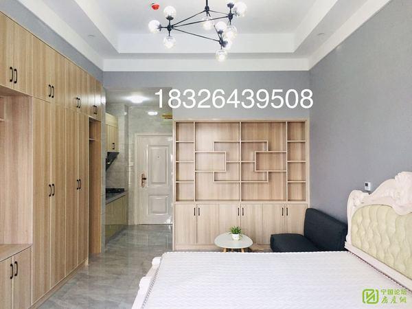 华贝广场精装电梯单身公寓家具家电崭新齐全做饭洗澡方便2张床拎包入住采光好随时看房