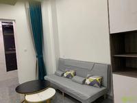华贝广场精装单身公寓家具家电齐全做饭洗澡方便随时看房