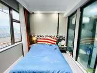 华贝广场电梯豪华精装单身公寓家具家电崭新齐全做饭洗澡方便随时看房