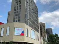 宁国的CBD华贝广场三室两厅两卫,纯毛坯任意打造,性价比很高的 。